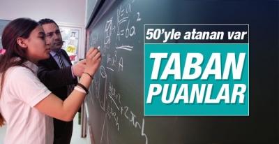 Sözleşmeli öğretmen atamaları taban puanları açıklandı