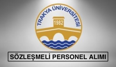 Trakya Üniversitesi 68 Sözleşmeli Sağlık Personeli Alımı Yapacak
