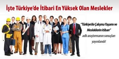 Türkiye'deki en itibarlı meslekler hangileri?