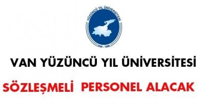 Van Yüzüncü Yıl Üniversitesi Sözleşmeli Personel Alımı