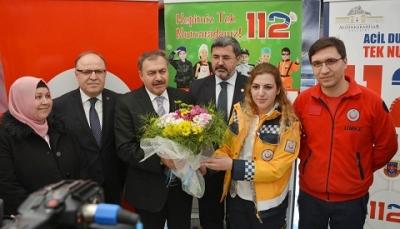 Veysel Eroğlu 112 Acil Sağlık Hizmetleri Haftası Etkinliklerine Katıldı.