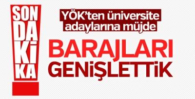 YÖK: Üniversite tercihinde barajı genişlettik