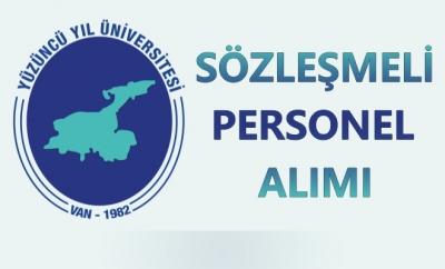 Yüzüncü Yıl Üniversitesi Sözleşmeli Personel Alımı Yapıyor