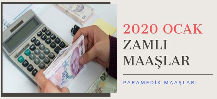Zamlı Paramedik (AABT) Maaşları (2020 Ocak)