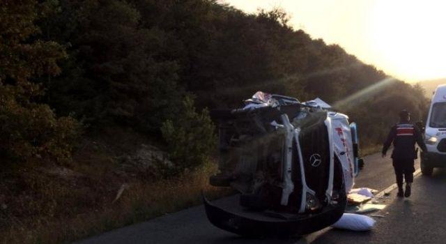 Ambulans Takla Attı! 2 Kişi Yaralandı