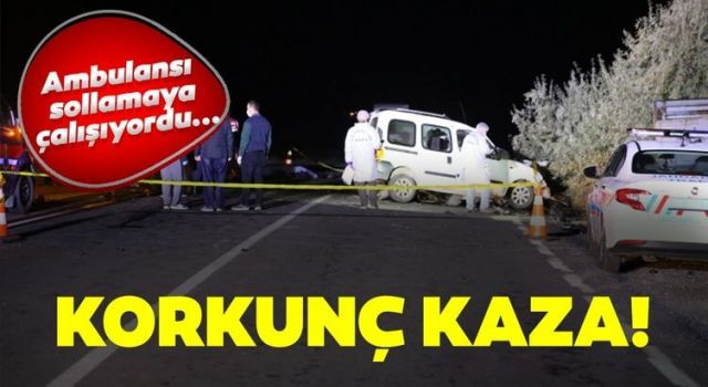 Korkunç Kaza!Ambulansı Sollamaya Çalıştı:4 Ölü 3 Yaralı