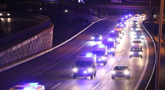 Ankara'dan Yola Çıkan Ambulans Konvoyunun Nedeni Belli Oldu!