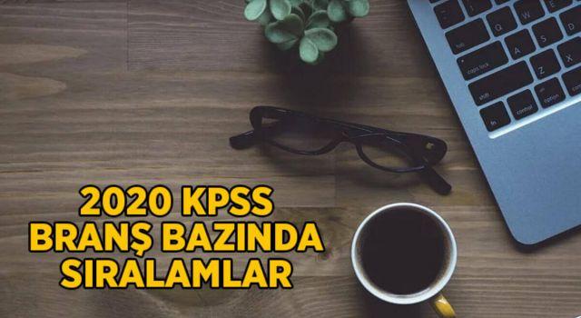 2020 KPSS Branş Bazında Sıralamaların Güncellenmesi (Lisans, Ön Lisans ve Ortaöğretim)