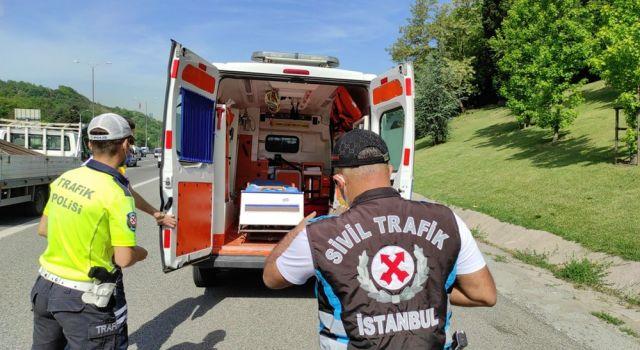 Çakarlı Araç Denetimi :İki Ambulansa Ceza