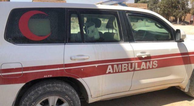 Teröristler Hasta Taşıyan Ambulansa Ateş Açtı