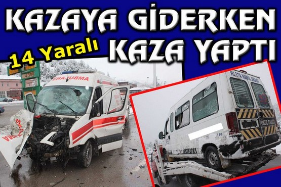 Karabük'te Ambulans Kazası