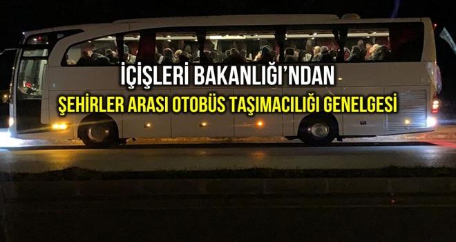 Şehirlerarası Otobüs Yolcu Taşımacılığı İle İlgili Ek Genelge