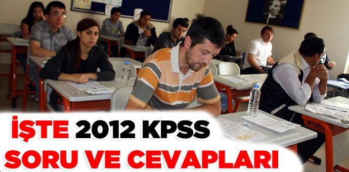 KPSS Ortaöğretim/Önlisans sınavı soru ve cevapları