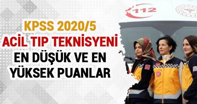 KPSS 2020/5 Acil Tıp Teknisyeni En Düşük ve En Yüksek Puanlar