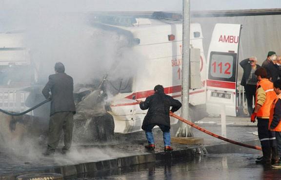 Ambulansta niye böyle bir yangın çıkıyor?