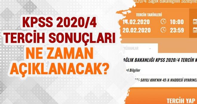 KPSS 2020/4 Tercih Sonuçları Ne Zaman Açıklanacak?