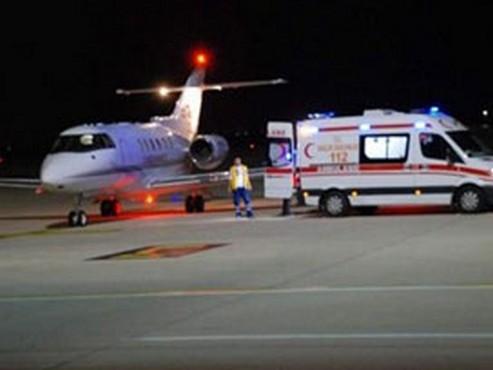 AK Partili Vekil Ambulans Uçakla Ankara'ya Getirildi.