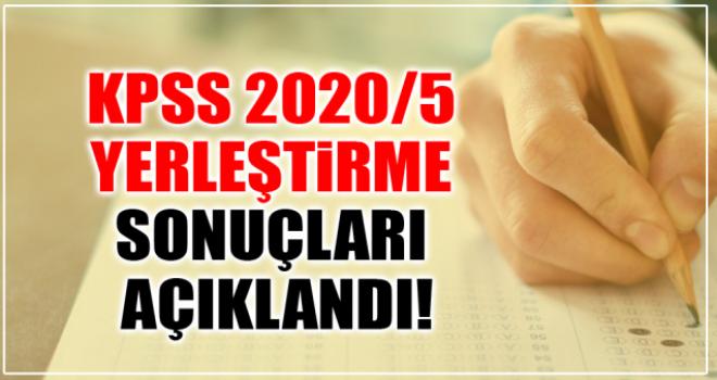 KPSS 2020/5 Yerleştirme Sonuçları Açıklandı