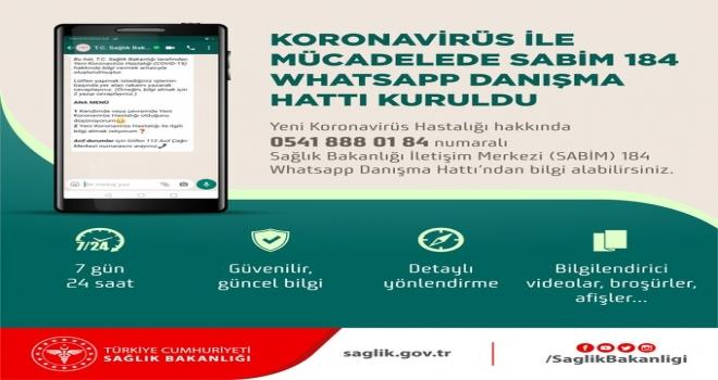 Sağlık Bakanlığı Koronavirüs Whatsapp Danışma Hattı Kurdu