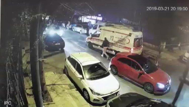 Ambulans Sürücüsüne Darp Kameralara Yansıdı