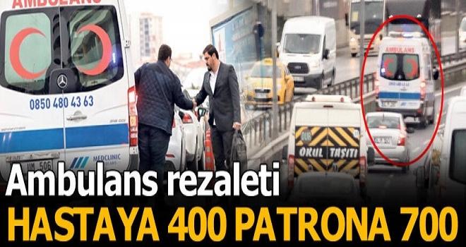 VIP Ambulans Taksi (Hastaya 400, Patrona 700 TL)