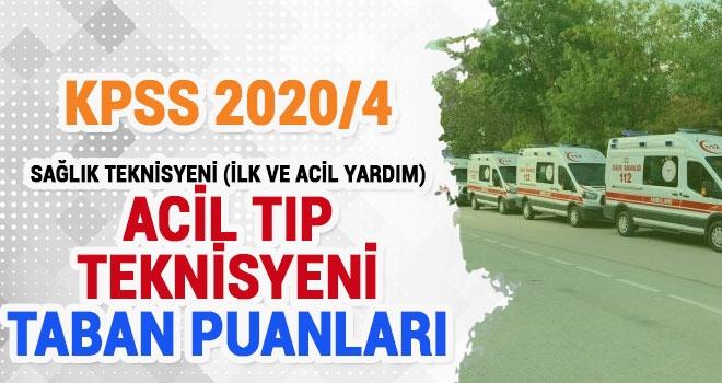 KPSS 2020/4 Acil Tıp Teknisyeni (ATT) Taban ve Tavan Puanlar.En Son ATT Kaç Puan İle Atandı?
