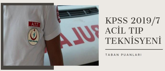 KPSS 2019/7 Sağlık Bakanlığı Personel Alımı ATT Taban Puanları