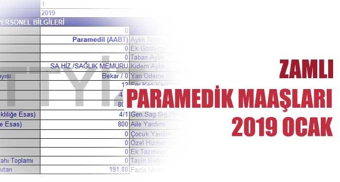 Paramedik Maaşları (2019-Ocak Zamlı)