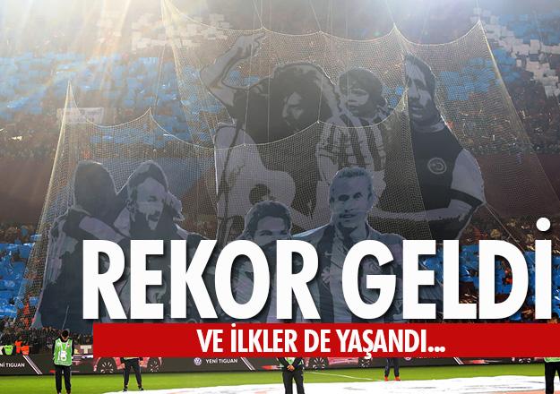 Trabzonspor - Beşiktaş maçında rekor kırıldı