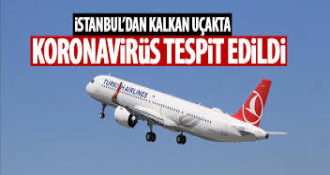 İstanbul'dan Kalkan Uçakta Koronavirüs Tespit Edildi