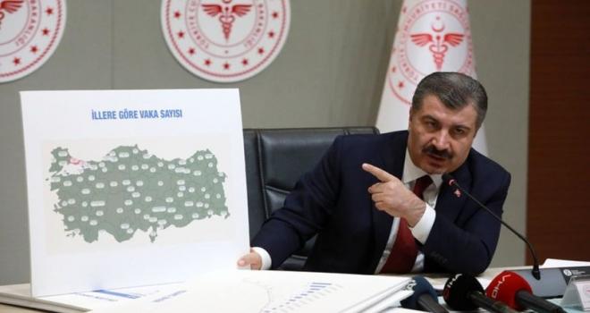 Türkiye İl İl Koronavirüs Haritası