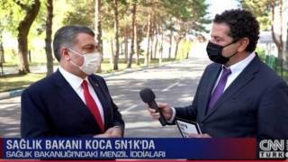 Cüneyt Özdemir'den Fahrettin Koca'ya Menzil Sorusu