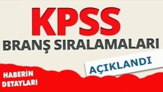 2020 KPSS Branş Bazında Sıralamalar (Lisans)