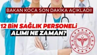 Sağlık Bakanı,Sağlık Personeli Alımına İlişkin Ayrıntıları Açıkladı ! İşte Detaylar