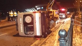 Kırşehir'de Kaza: Ambulans Devrildi