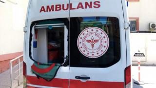 Bursa'da Ambulansa Taşlı Saldırı