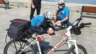 İstanbul'un İlk Bisiklet Ambulansları Hizmete Başladı