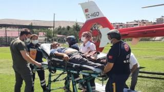 Sağlık Personelinin İmdadına Ambulans Helikopter Yetişti