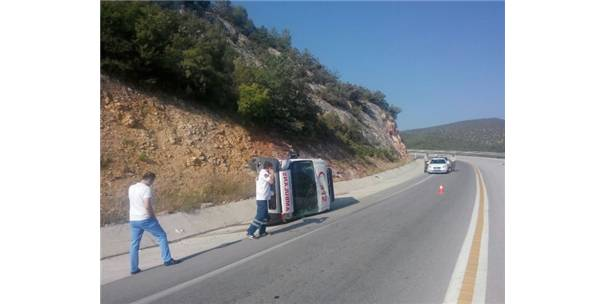 Osmaneli 112 Acil Servis Ambulansı Dönüş Yolunda Kaza Yaptı