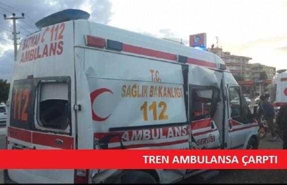 Tren Ambulansa Çaprtı