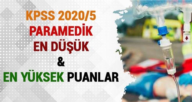 KPSS 2020/5 Paramedik (AABT) En Düşük ve En Yüksek Puanlar