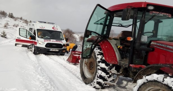 Hastaya Gidiyorlardı, Karda Mahsur Kaldılar