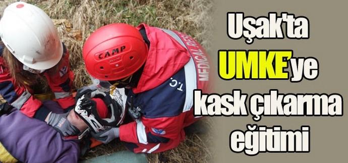 UMKE'ye kask çıkarma eğitimi