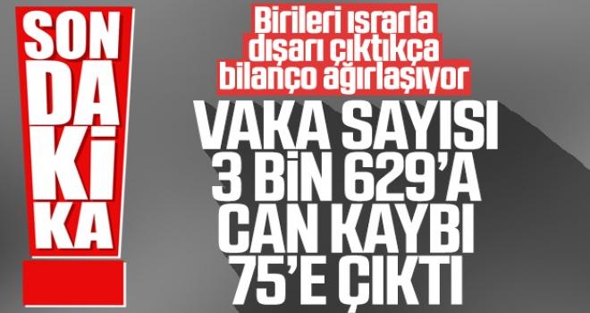 Türkiye'de Koronadan Ölenlerin Sayısı 75'e Çıktı! Vaka Sayısı 3.629