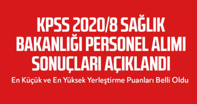KPSS-2020/8: Sağlık Bakanlığının Sözleşmeli Pozisyonlarına Yerleştirme Sonuçları Açıklandı
