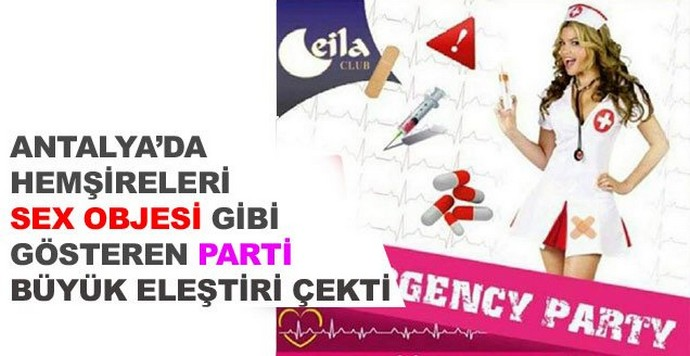Antalya'da Ceila Club'ten hemşirelere karşı sorumsuz 'Emergency Party