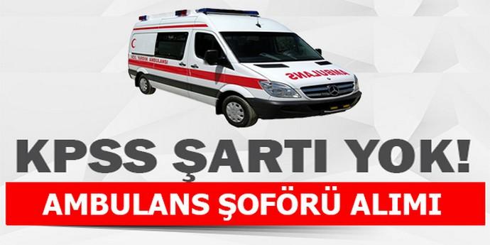Sağlık Müdürlüğü Ambulans Şoförü Personel Alımı Başladı