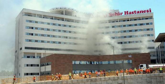 Adana Şehir Hastanesinde yangın!