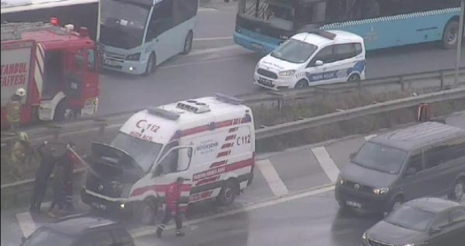 E-5'te Korkutan Ambulans Yangın!