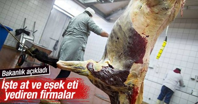 Bakanlık at eti satanları ifşa etti
